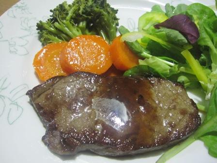 宗谷牛のステーキ