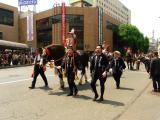 滝沢村や盛岡市の関係者が騎乗する馬たち