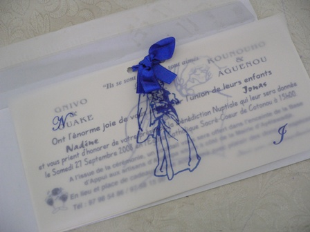 ベナン結婚式招待状