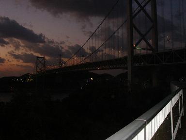 関門海峡 夕景