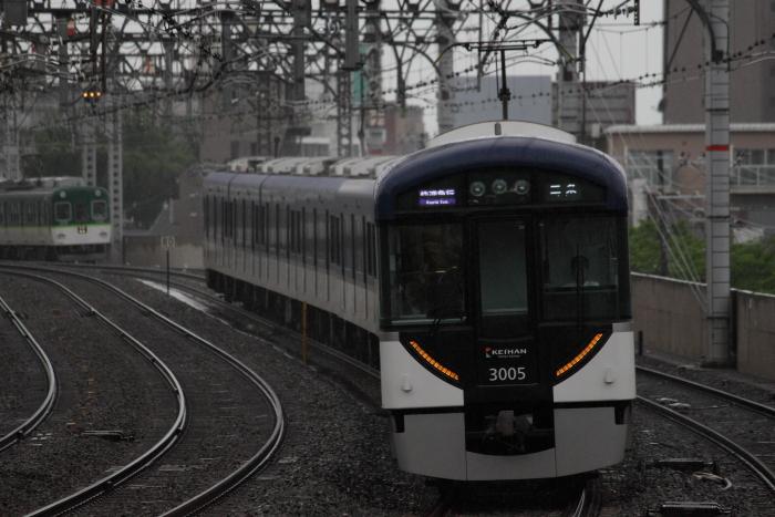 3005Fの快速急行三条行き(西三荘)