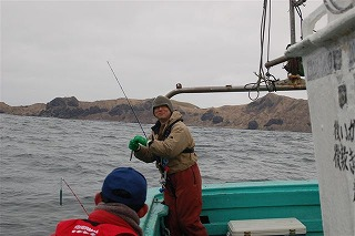 船で鱒釣りその1
