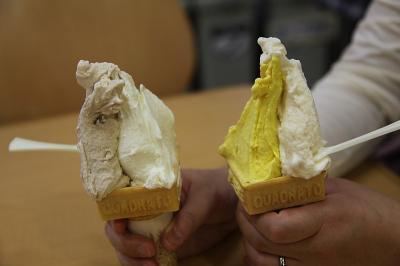 愛知牧場 2009年10月31日 ジェラート パンプキン&生キャラメル ミルク&マロン