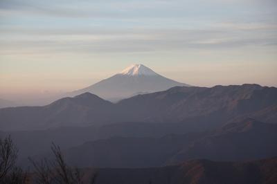 雲取山 頂上から見た富士
