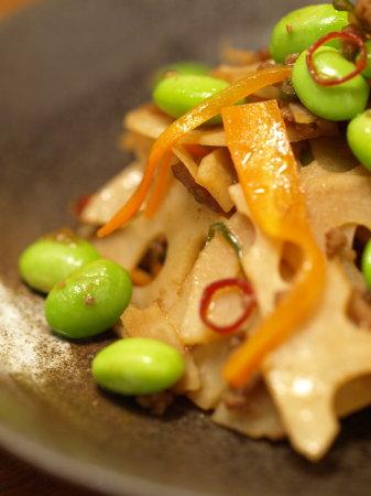 枝豆とレンコンのキンピラ23