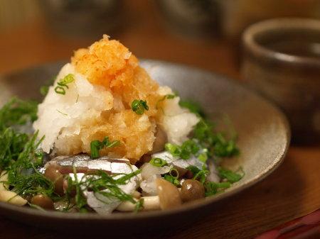 〆秋刀魚とキノコのおろし和え16