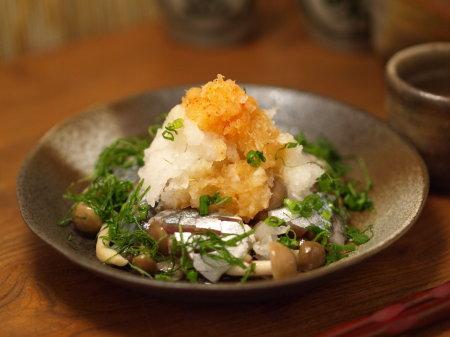 〆秋刀魚とキノコのおろし和え15