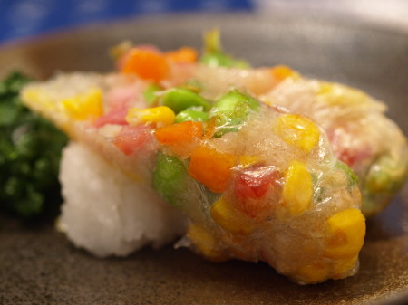枝豆蓮根餅生春焼き揚げ30