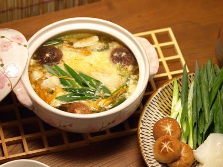 白身魚と青葱のとろろ鍋17