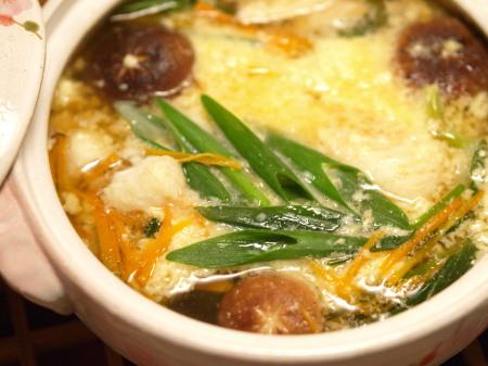 白身魚と青葱のとろろ鍋20