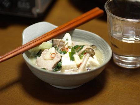 胡麻味噌もつ鍋09