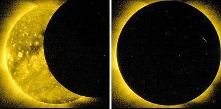 「ひので」が撮影した皆既日食