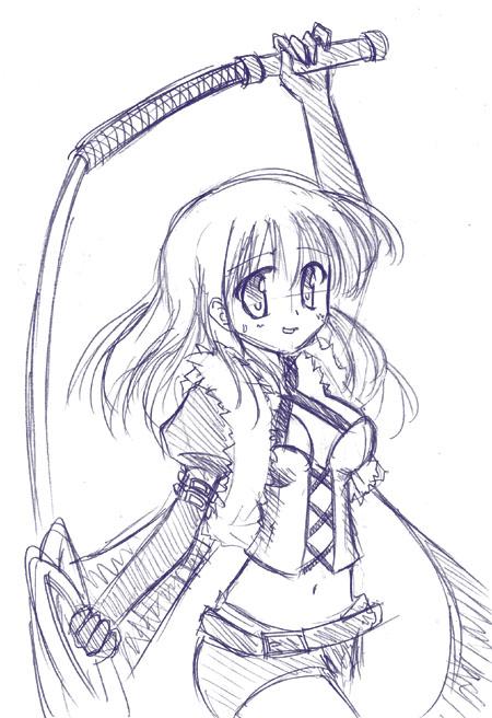剣を描き忘れた