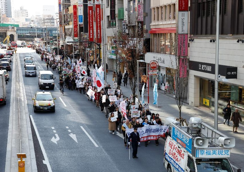 民主党・野田政権の即時退陣を求めるデモ in 大阪
