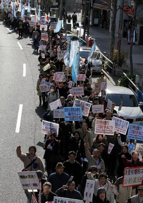 民主党・野田政権の即時退陣を求めるデモ in 東京
