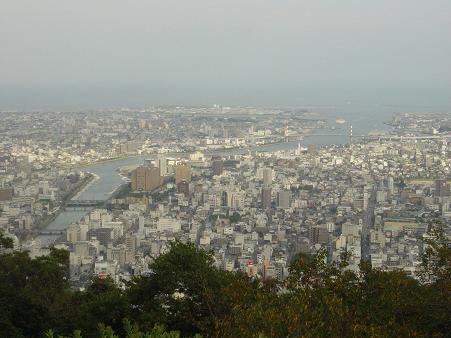 眉山から望む徳島市