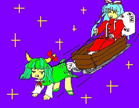 サンタ妹紅とトナけーね