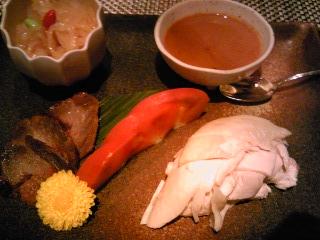 「冷菜の三種盛り合わせ」TAO-LI(福岡市)