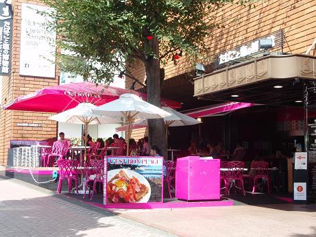 ピンクのカフェ1