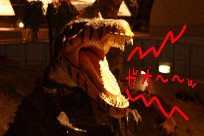 恐竜の雄叫び