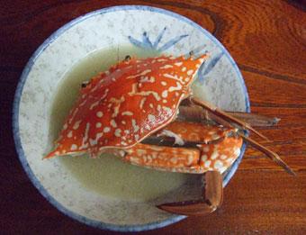 蟹の味噌汁2