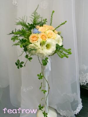 ウエディング用生花サーモンピンク