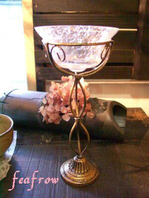 アイアンの花器