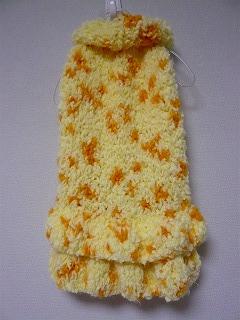 手編みのワンピ♪