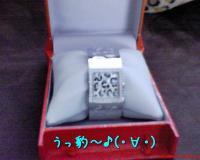箱入り豹な時計♪