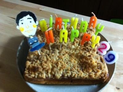 店長誕生日ケーキ