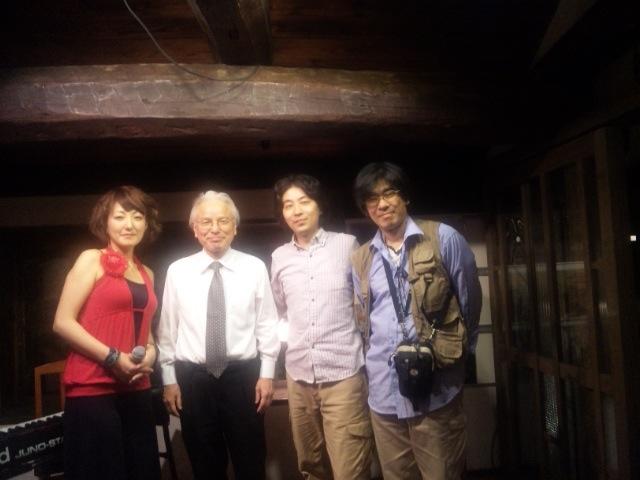 MUSAさん、尾崎マネージャー、柳武、PAの島本さん