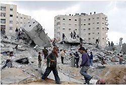 破壊された建物