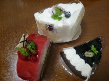 9月14日ケーキ3つ