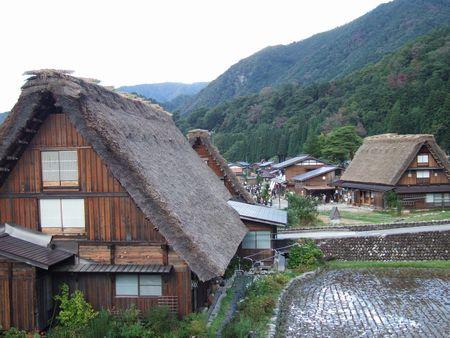 明善寺郷土館から望む村内
