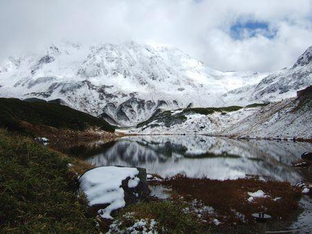 みどりが池から望む立山