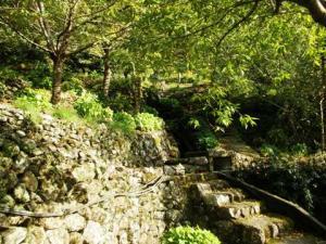 石畳の階段