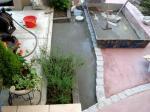 花壇周りにモルタル施工
