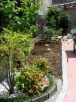 道路から見たアプローチと植栽