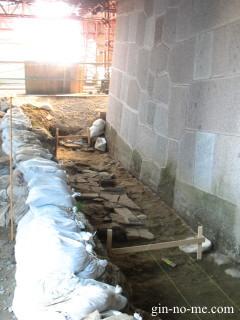 金沢城河北門遺構と新しい石垣