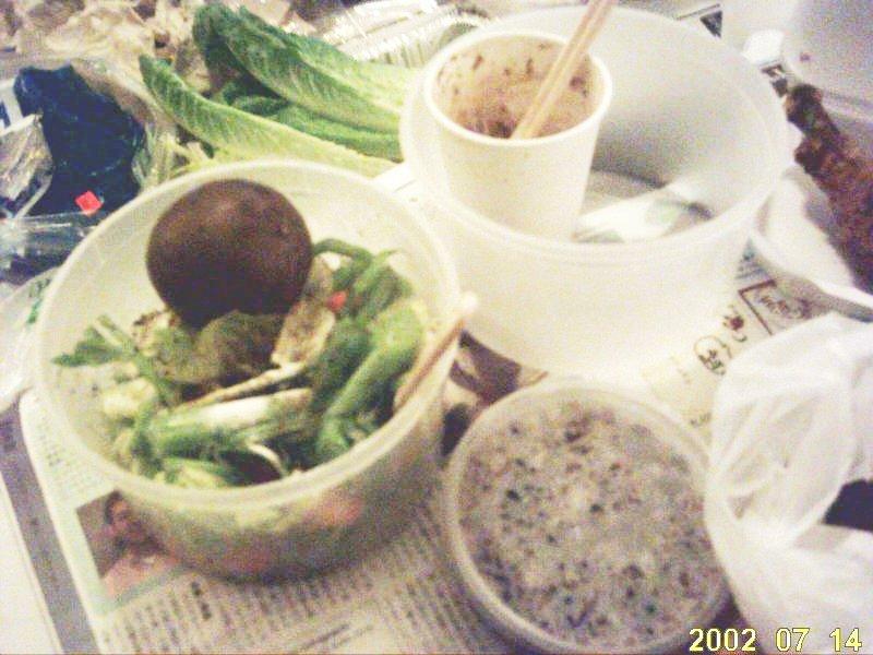 2009.9黒米とサラダ