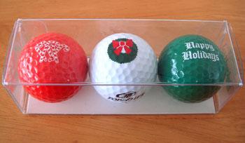 クリスマス ゴルフボール!