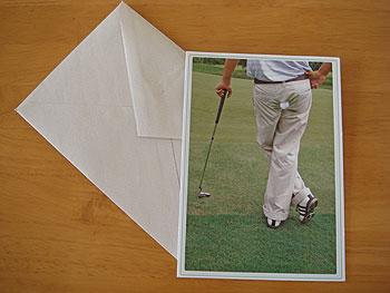 アメリカのゴルフ!グリーティングカード