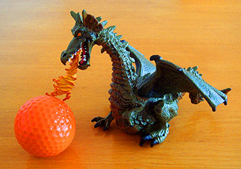 2012年 ゴルフ年賀状、小道具のドラゴン(龍)