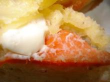 サーモンクリームチーズ断面アップ