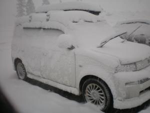雪まみれのマイカー