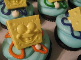 スポンジボブのカップケーキ2
