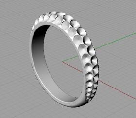 CAD パヴェリング 試作