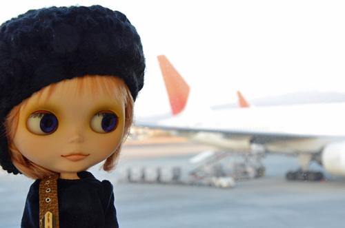 ナナシは飛行機へっちゃらだぞーい。