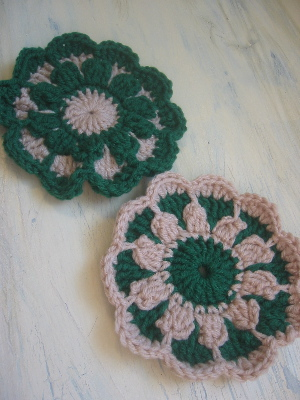 green flower cloth