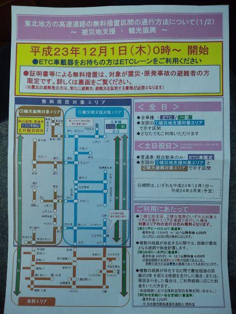 nexco東日本 無料区間 12/1から